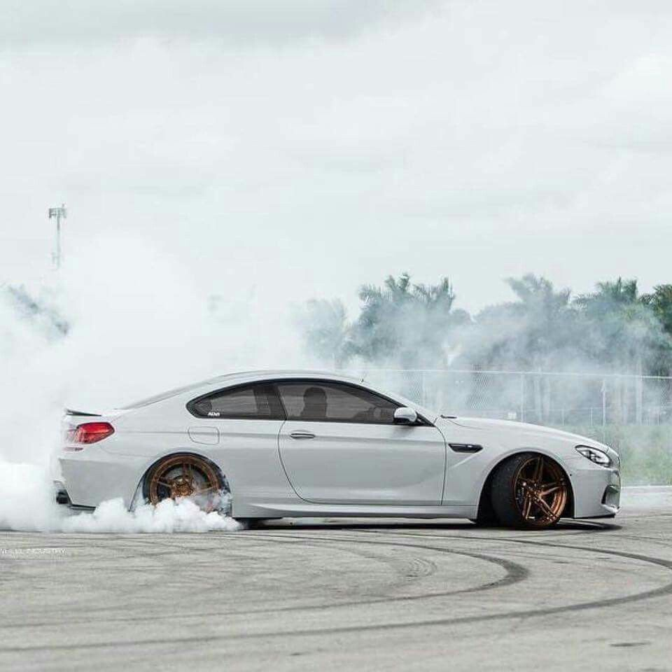 BMW F13 M6 white drift