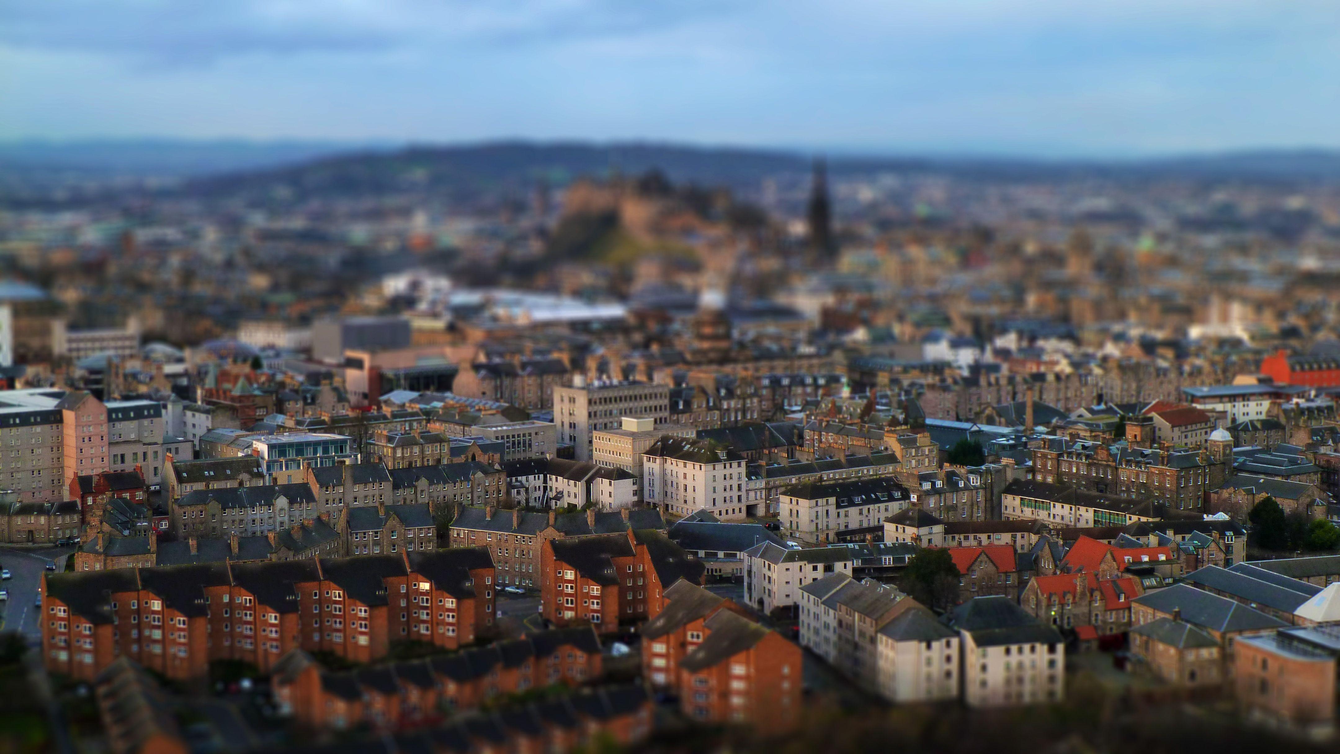 Probando el efecto Tilt Shift sobre una vista de Edinburgh (09/12/2011)