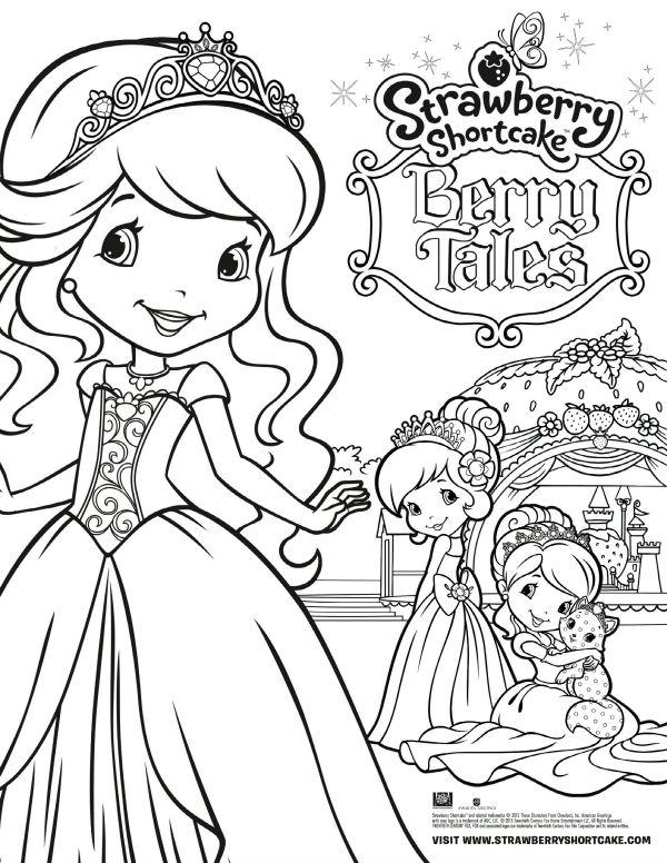 Free Printable Strawberry Shortcake Coloring Page Printable