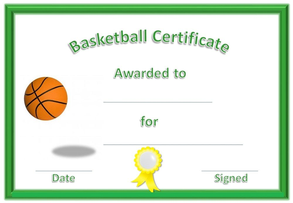 This is a graphic of Printable Basketball Certificates with regard to congratulation certificate