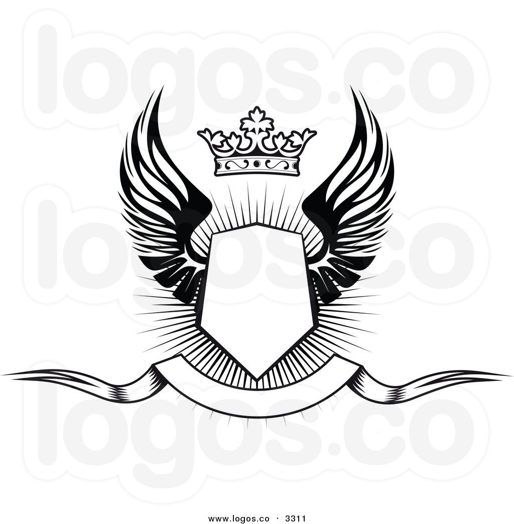 Larger Preview Royalty Free Vector Of A Black And White