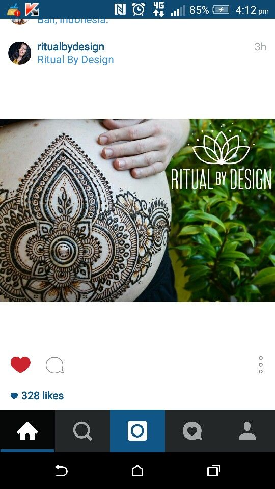 Ritual by Design belly henna