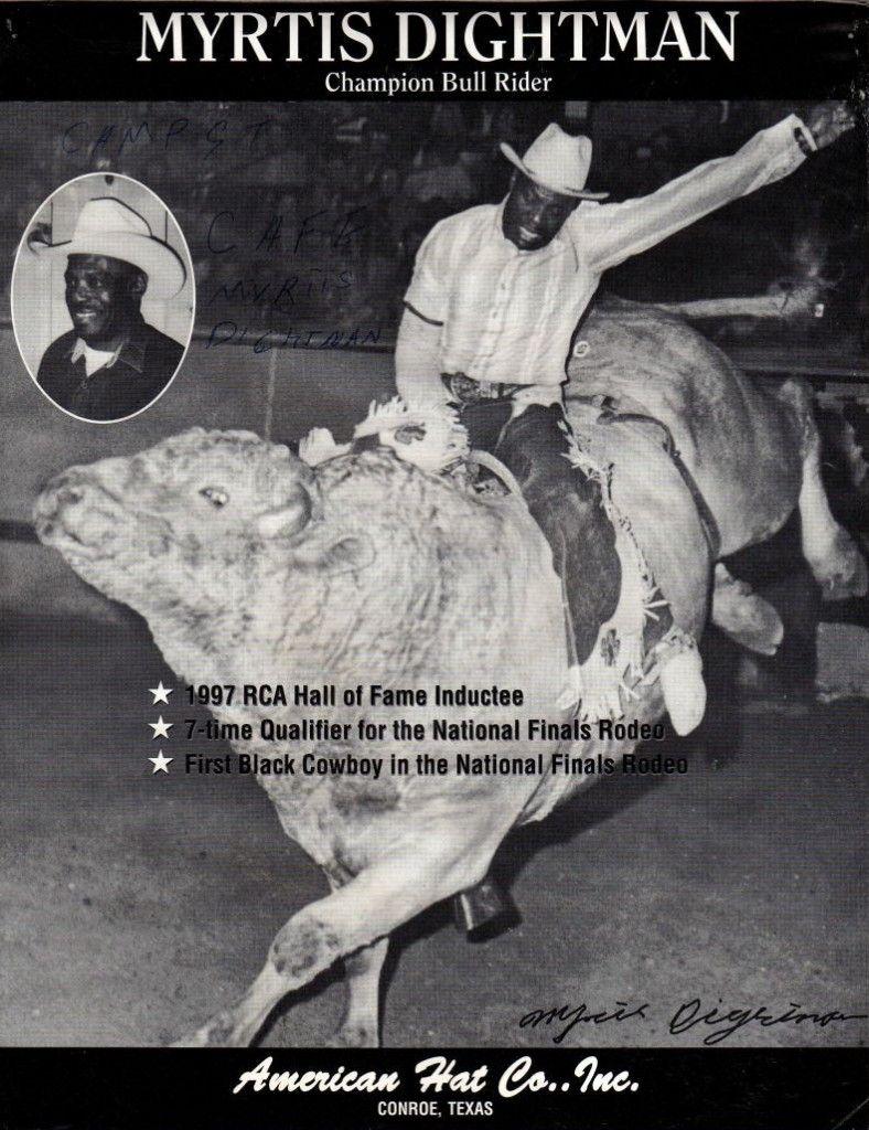 myrtis dightman pioneer black bullrider champion rodeo