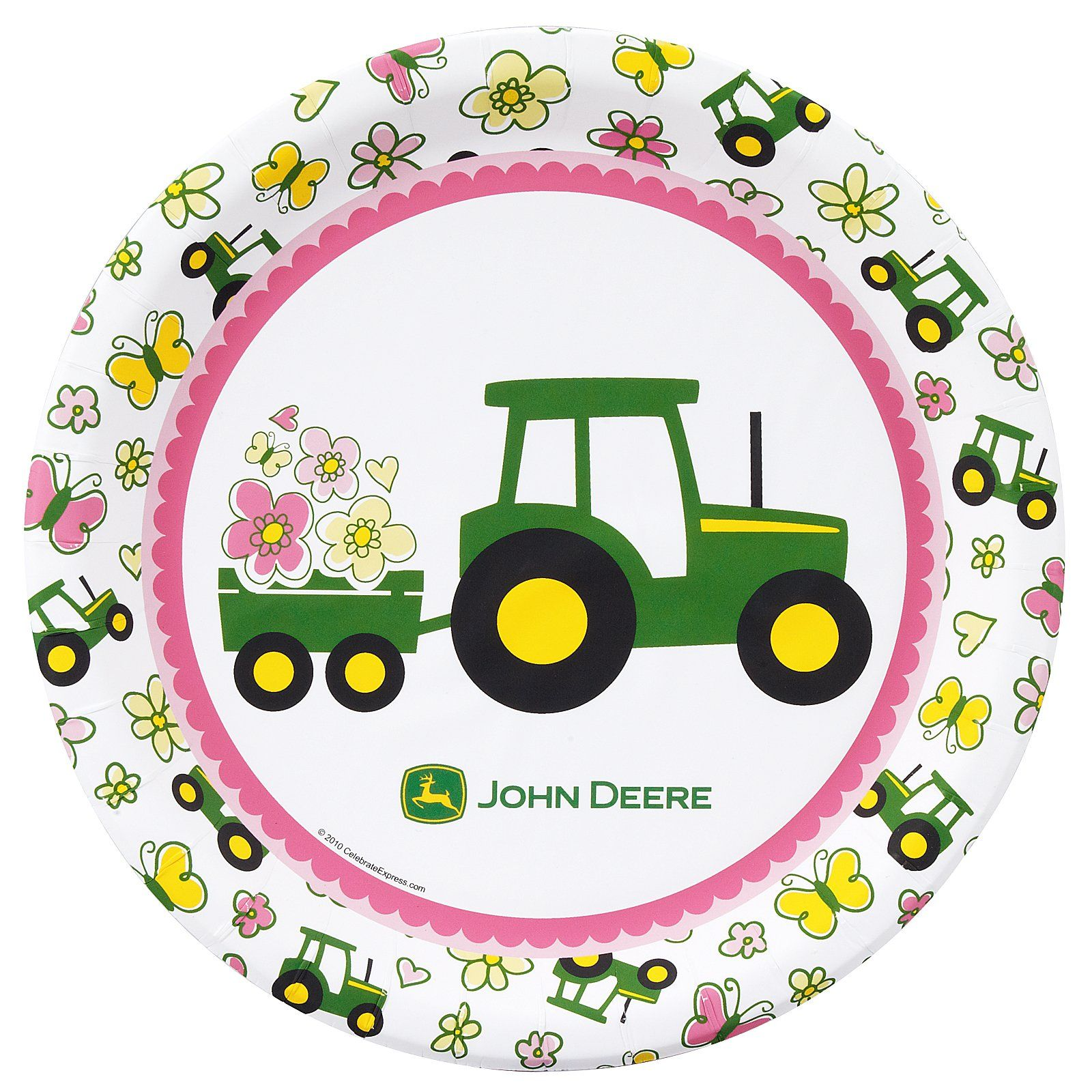 John Deere Pink Dinner Plates  sc 1 st  Pinterest : tractor paper plates - pezcame.com