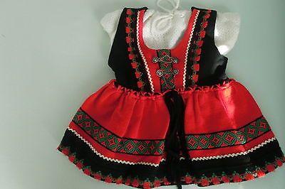 Trachten-Kinder-Strickkleid-rot-Gr-86-auch-fuer-Puppen ...