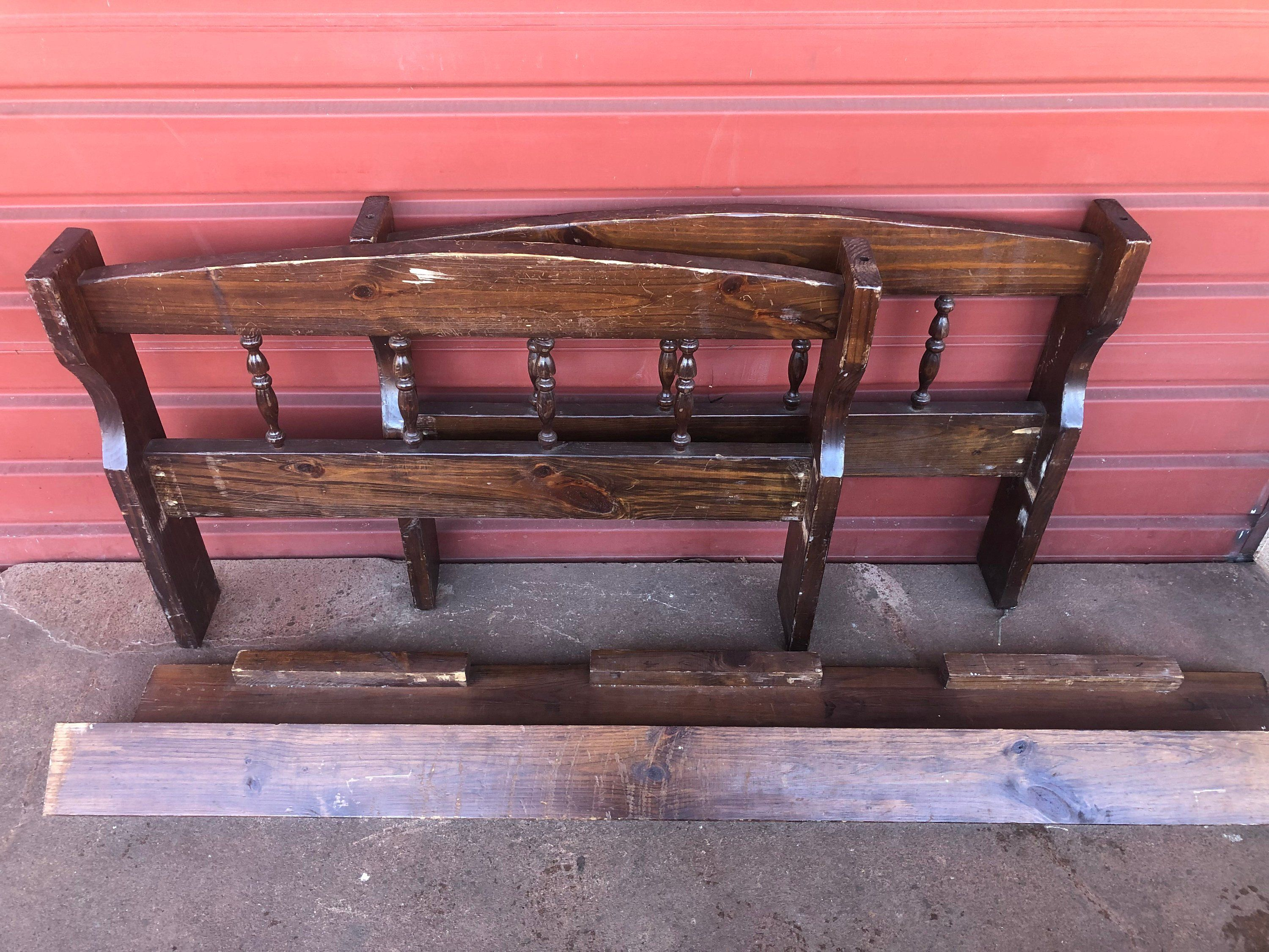 Vintage Wood Twin Bed Paint To Order Custom Painted Single Bed