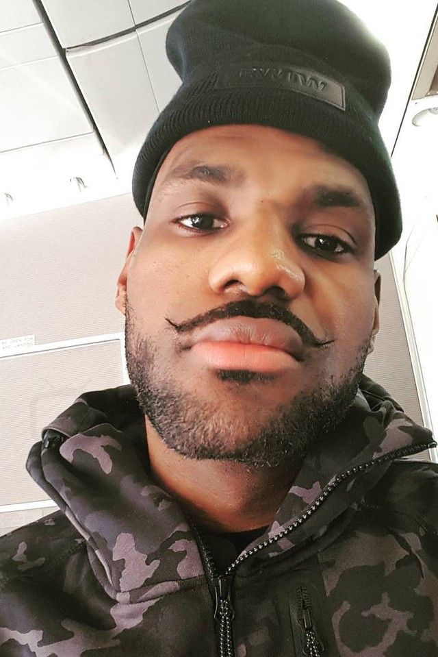 LeBron James - Showing off his mustache for movember on  986105fb166