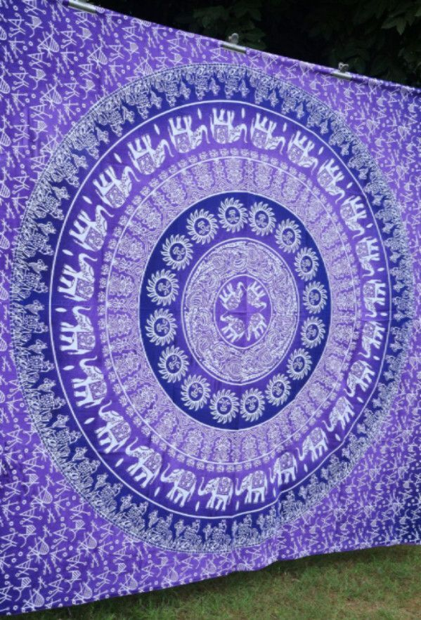 Bohemian Hippie Boho Large Purple Multi Wall Hanging Tapestry