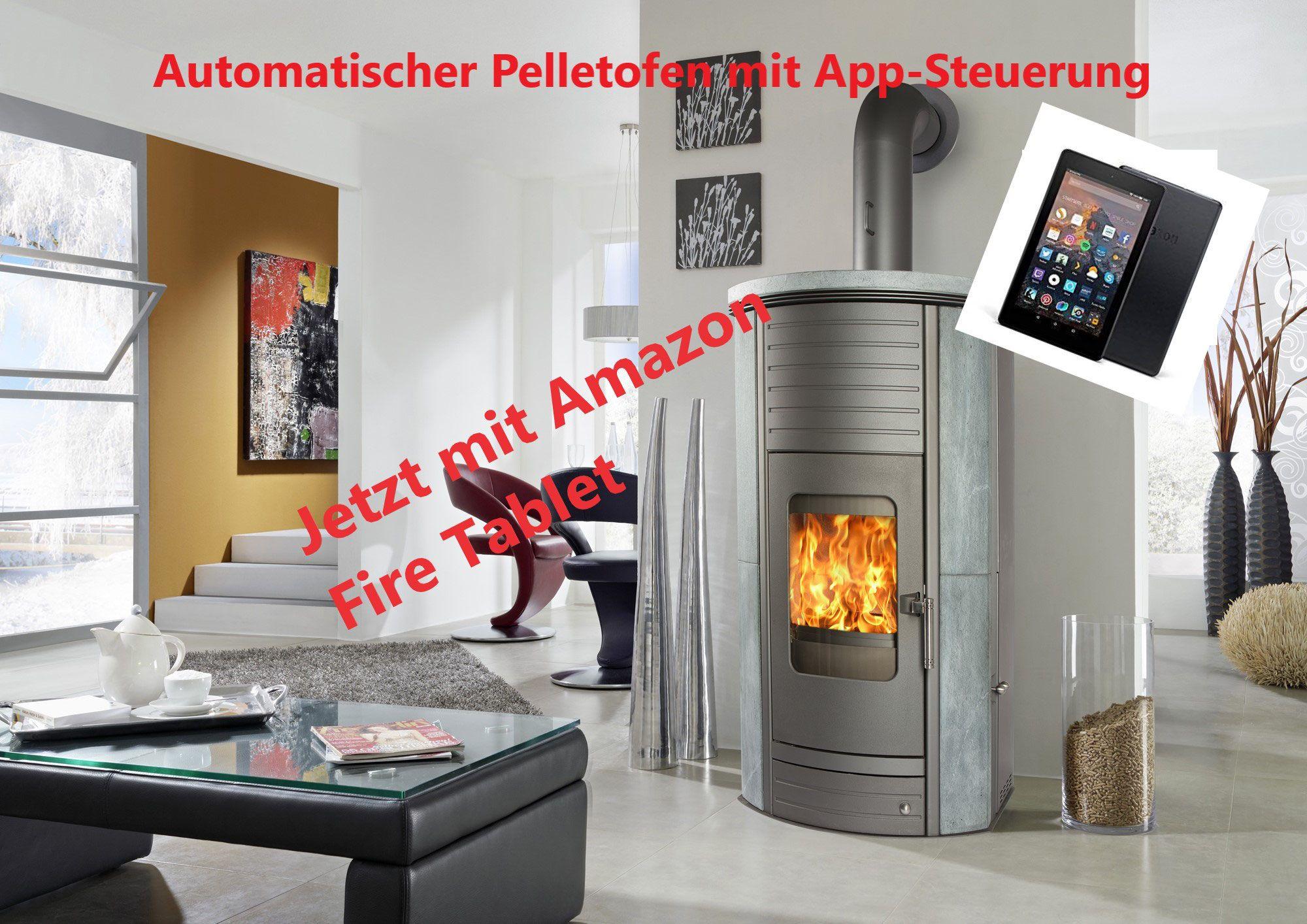 Automatischer Pelletofen Mit Tablet Und App Steuerung Kaminofen Schornstein Pelletofen