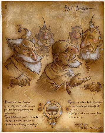 Boggans By Tony Diterlizzi My Favorite Character Class Cause I Am One Drawn By One Of My Favorite Fantasy Illust Fairytale Art Fantasy Artist Changeling
