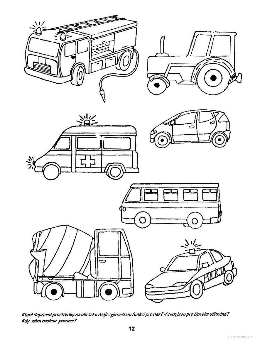 pracovní list automobily | Omalovánky | Pinterest | Arbeitsblätter ...
