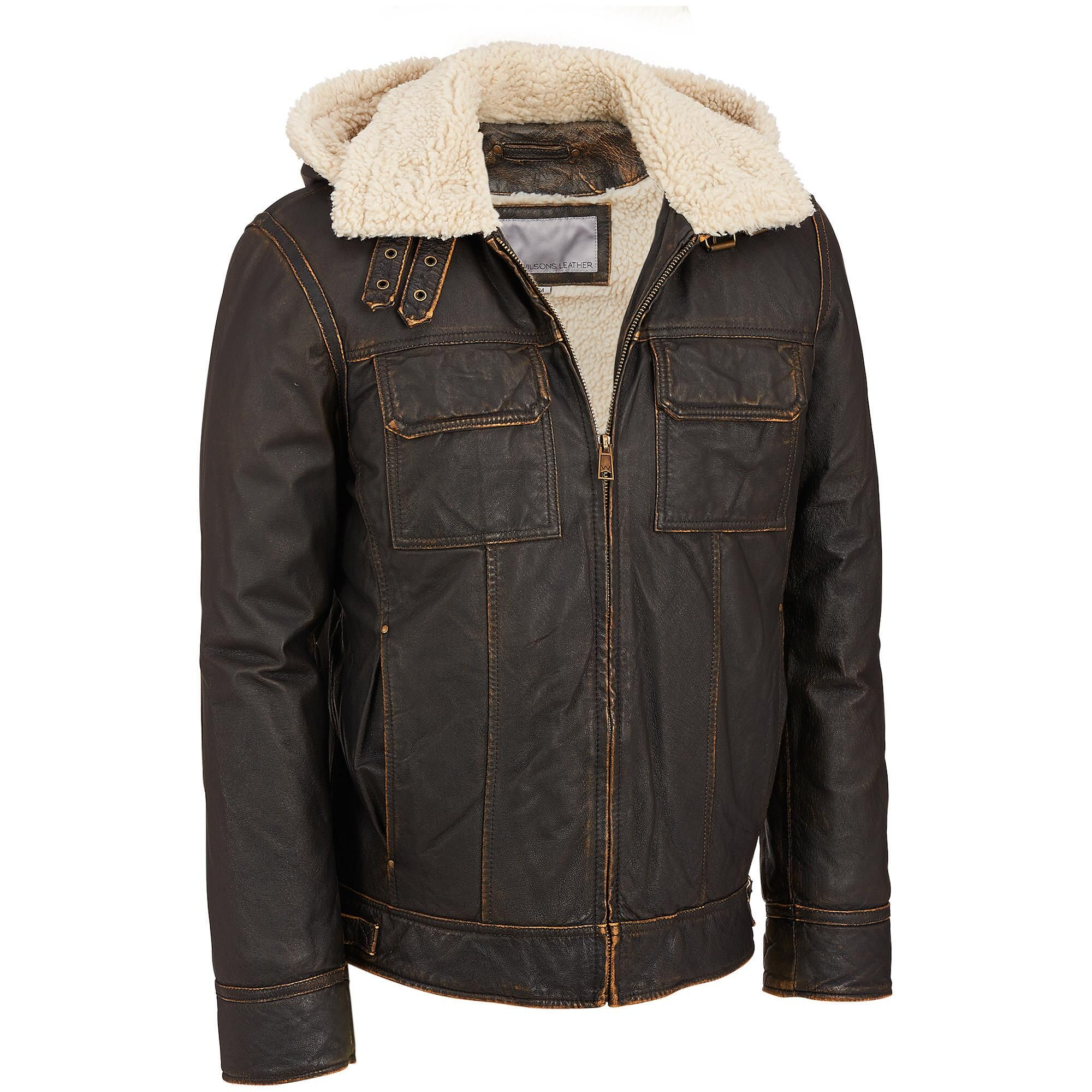 Faux Shearling Outerwear Mens Leather Bomber Jacket Bomber Jacket Vintage Leather Bomber Jacket [ 2000 x 2000 Pixel ]