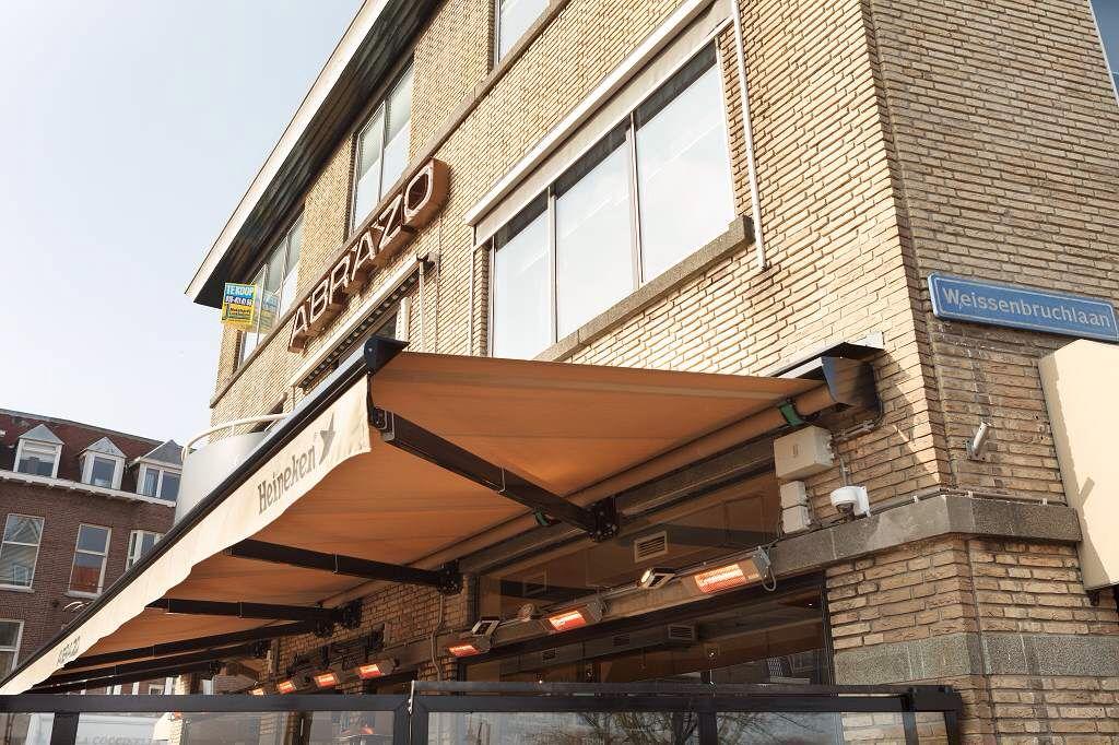 Zonwering In Rotterdam : Plaatsing stobag jumbo voor terras bij wijnbar abrazo
