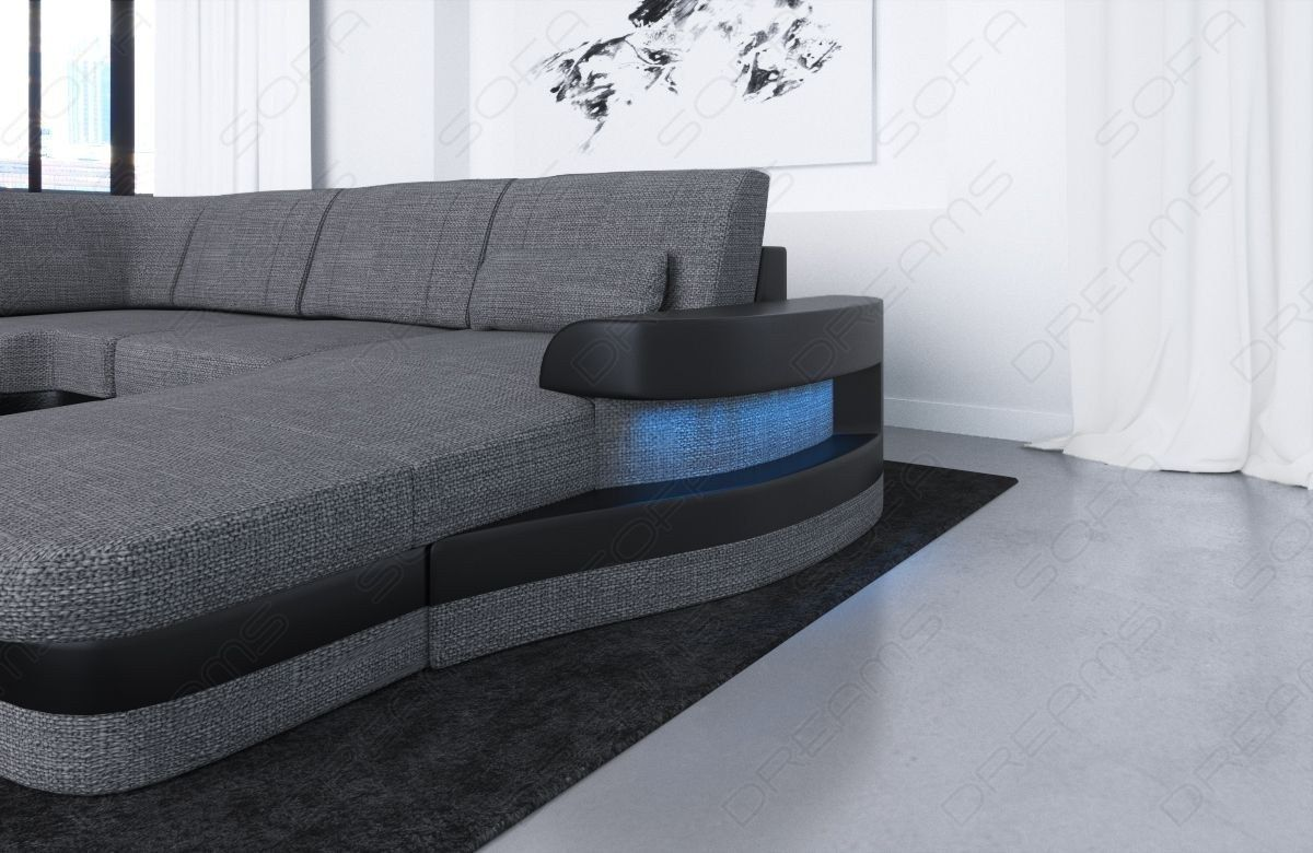 Modern Fabric Sofa Tampa U Shape LED | couch | Fabric sofa ...
