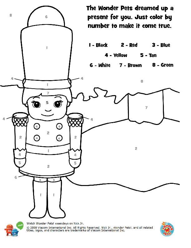 wonder pets nutcracker coloring book pages 4png