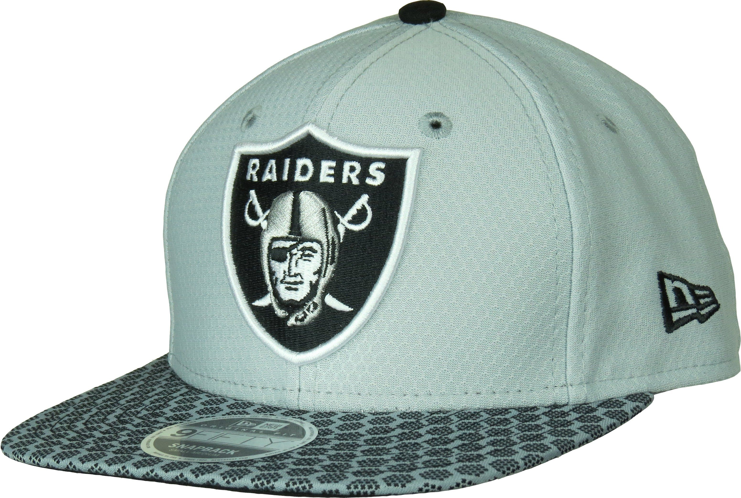 New Era 39Thirty Diamond Cap Oakland Raiders schwarz