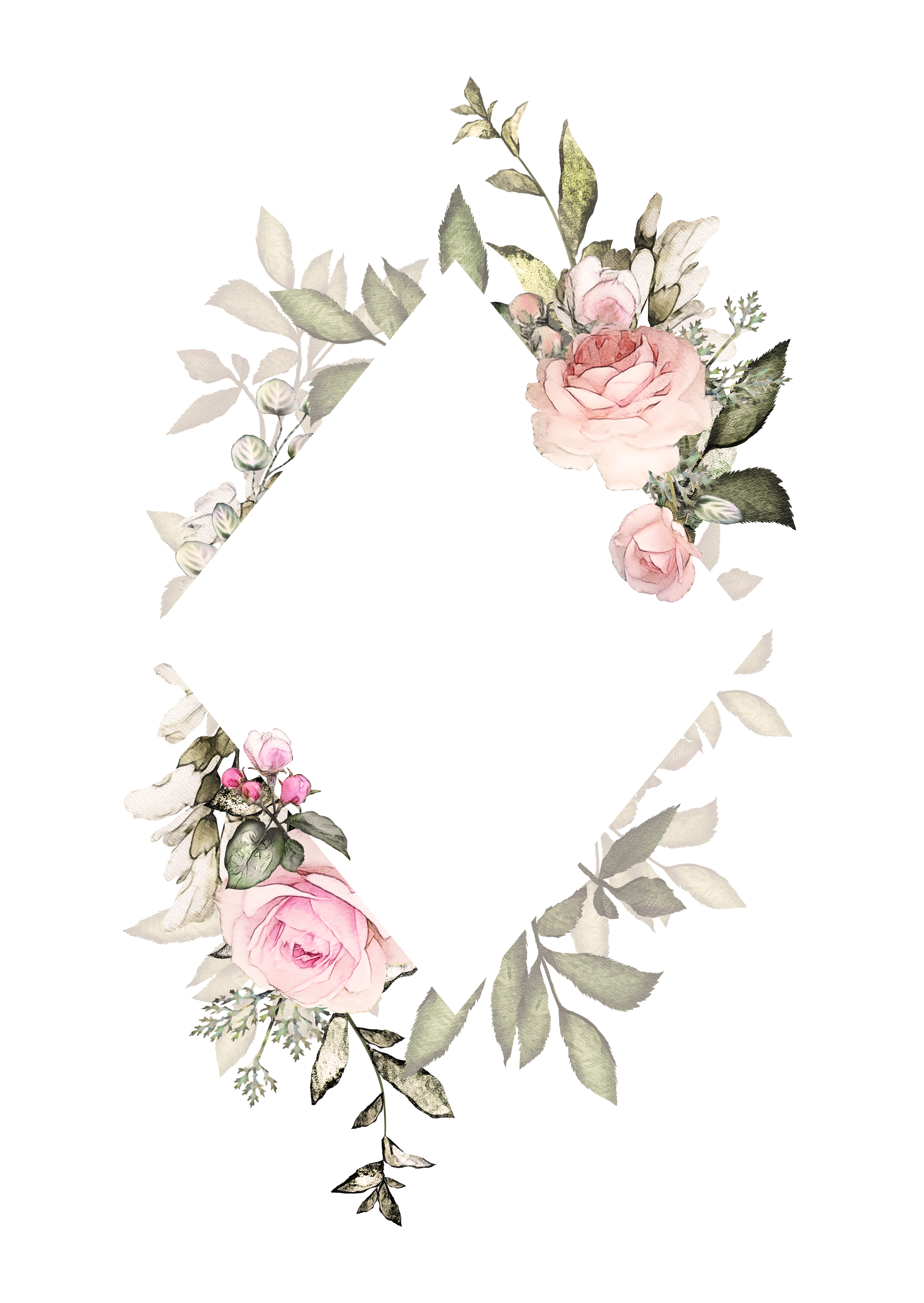 H746A (10) Floral tattoo, Watercolor tattoo flower