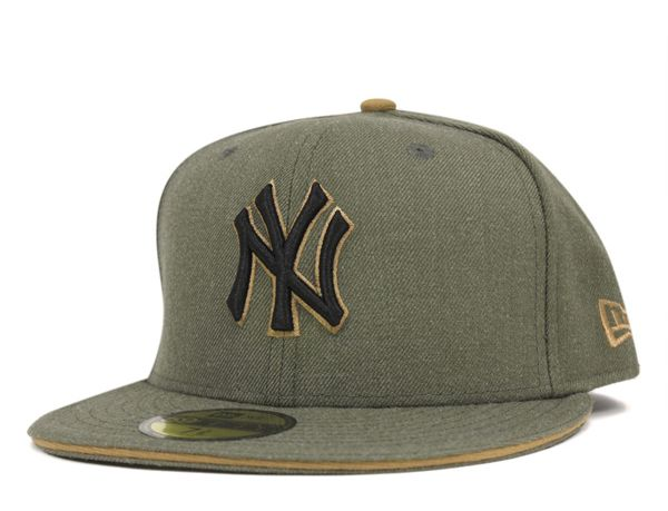 ba14e5847 New York Yankees Heather Slice Army 59Fifty Fitted Baseball Cap by NEW ERA  x MLB