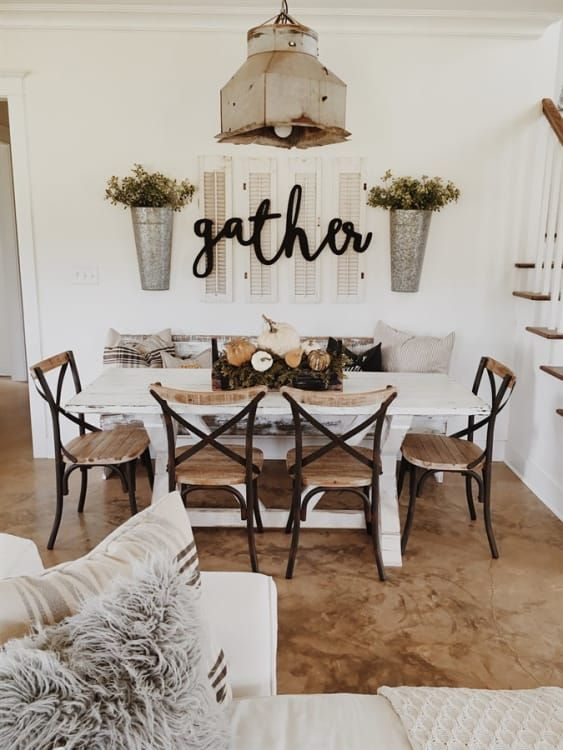 Reclaimed Wood Metal Dining Chairs | Free Shipping 2 #farmhousediningroom