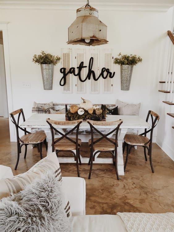 Reclaimed Wood Metal Dining Chairs | Free Shipping 2 #farmhousediningroom