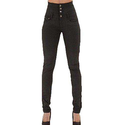 Jeans Damen High Waist Jeans Hose Damen Hochbund Stretch