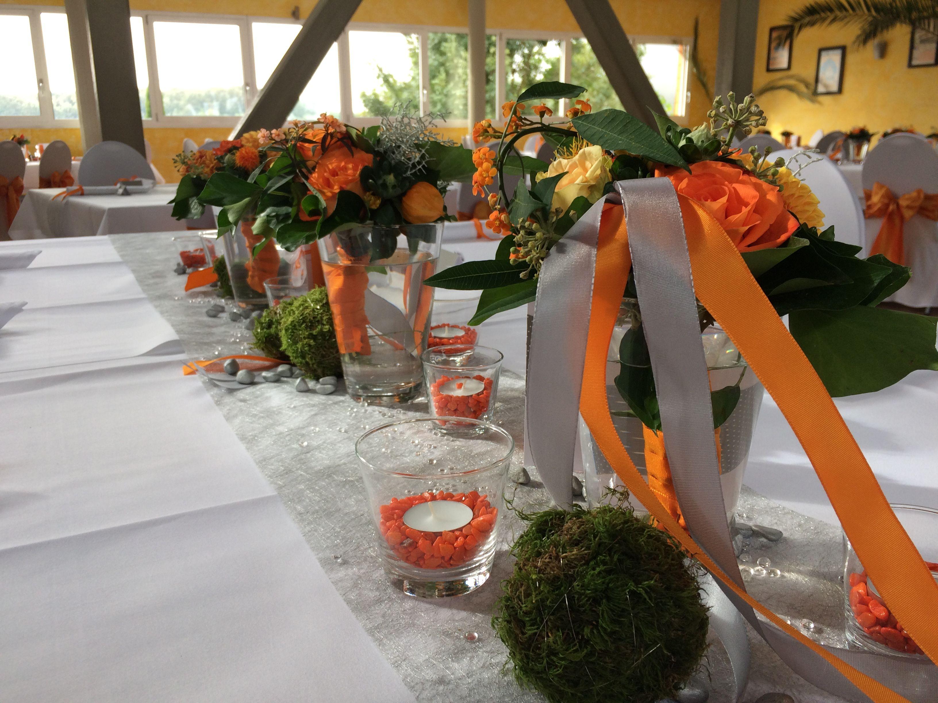Tischdeko Hochzeitsdeko Orange Grun Weiss Deko Pinterest