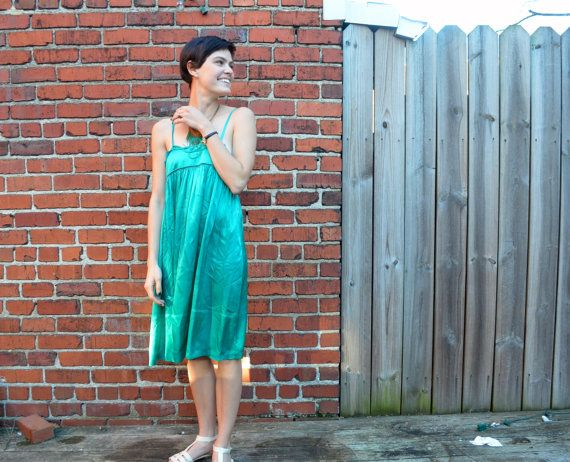 Silk See by Chloe Dress by SqueakVintage on Etsy