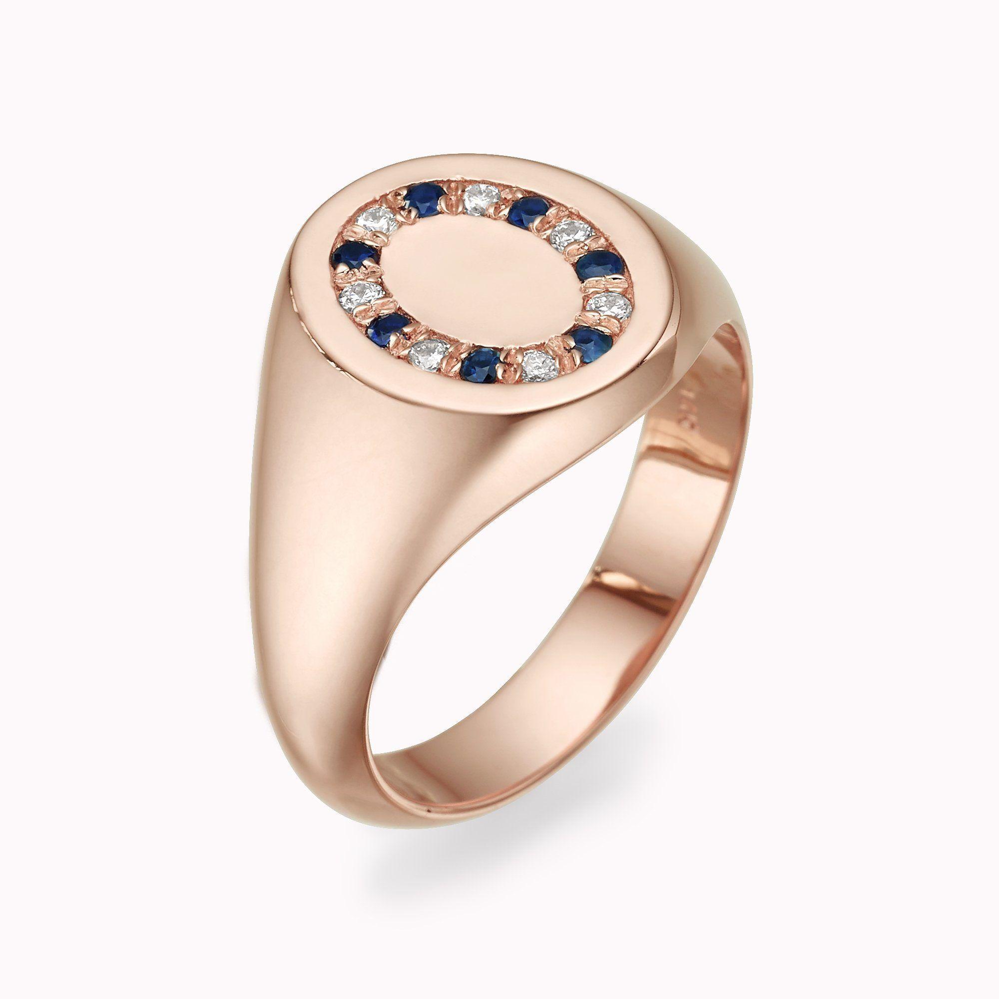 Diamond & Blue Sapphire Ring in 2020 Diamond