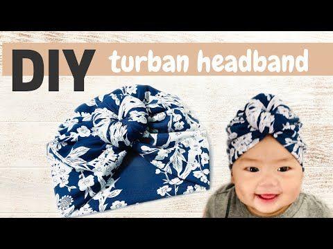 DIY: Turban Headband for Baby   No Sewing Machine!