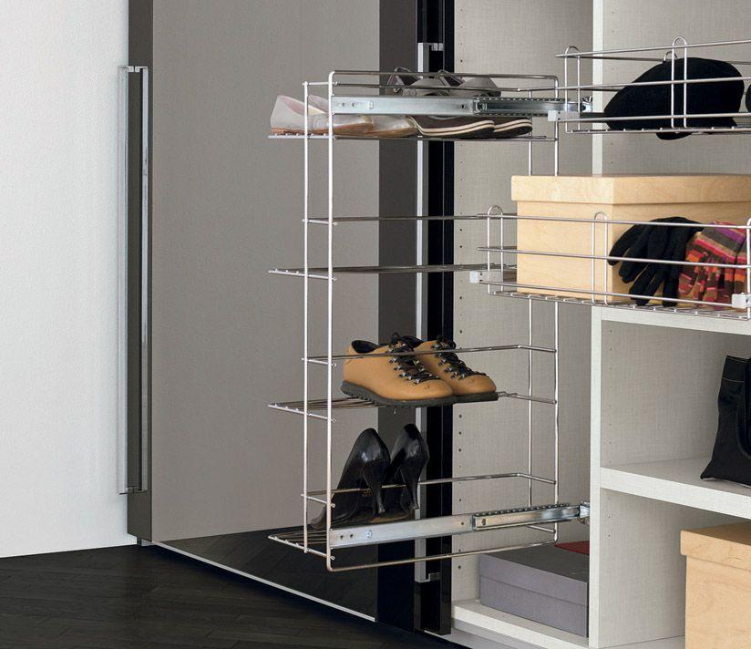 Pull Out Wire Shoe Storage Drawer Shoe Rack Wardrobe Shoe Rack