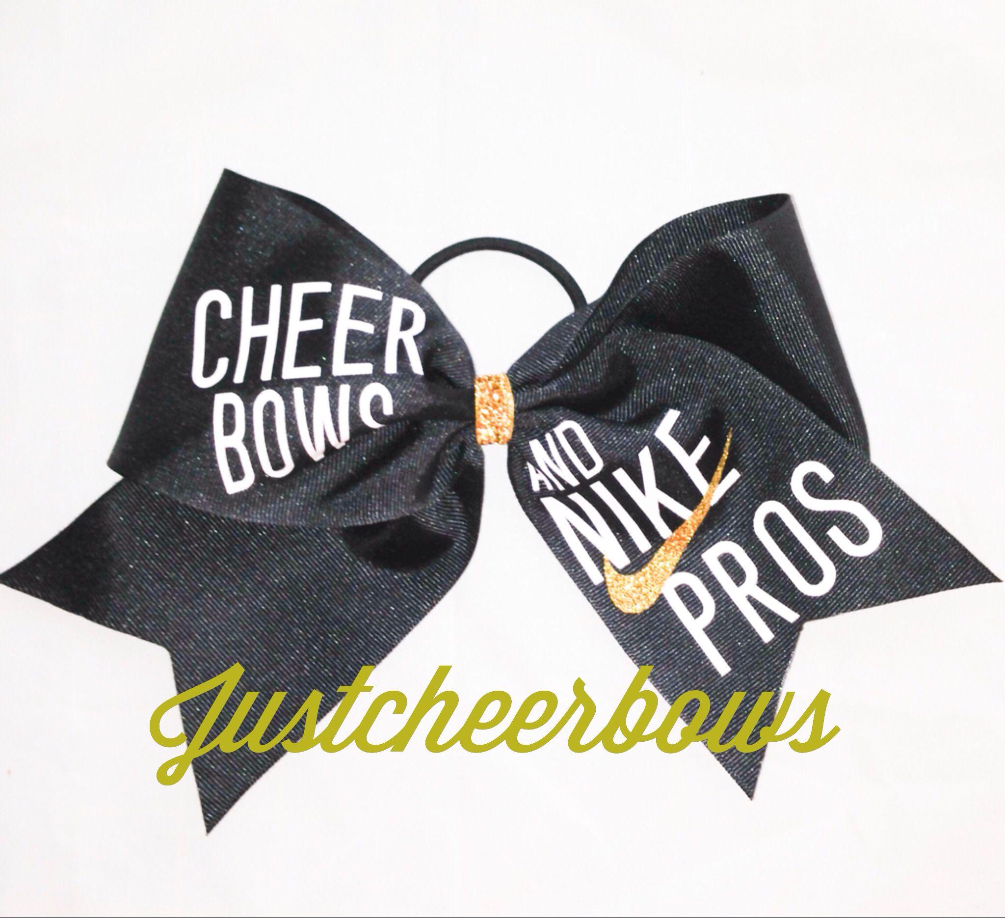 7f9dc26ae805f Cheer Bows & Nike Pros | Bows bows bows! | Cute cheer bows ...