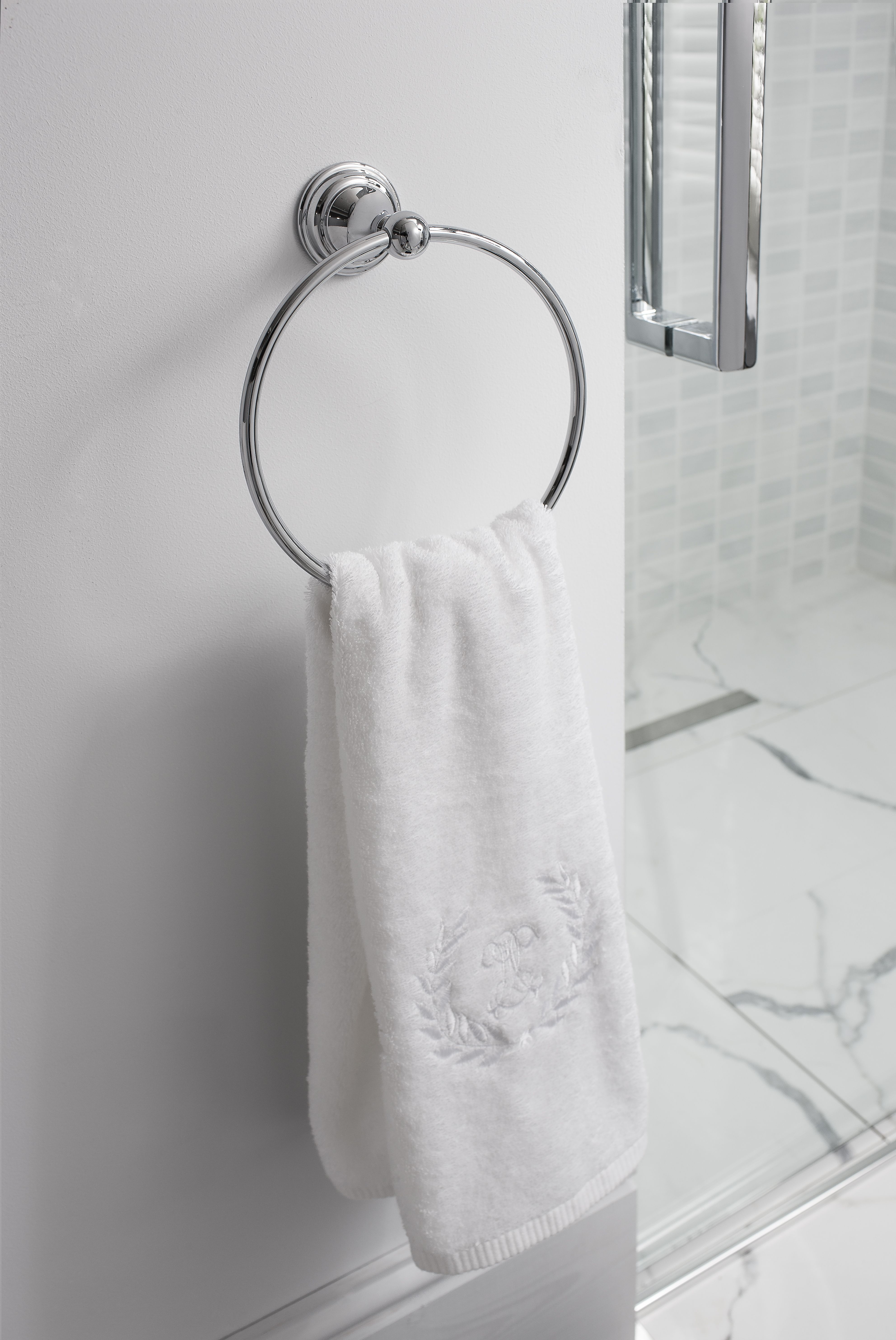 Luxury accessories to suit your bathroom - Belgravia towel ring from ...