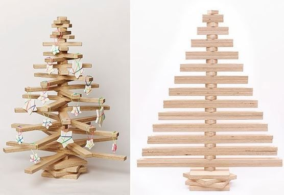 Photo of 6 wooden Christmas trees to make