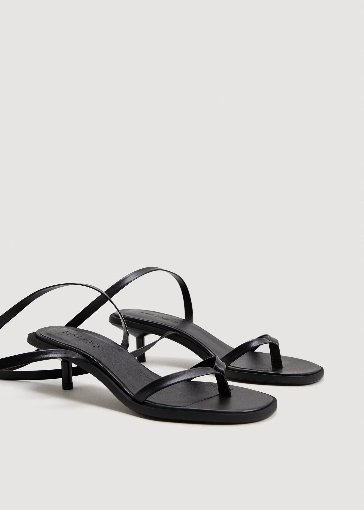 aa9c632d196 Mango Leather Straps Sandals - Women