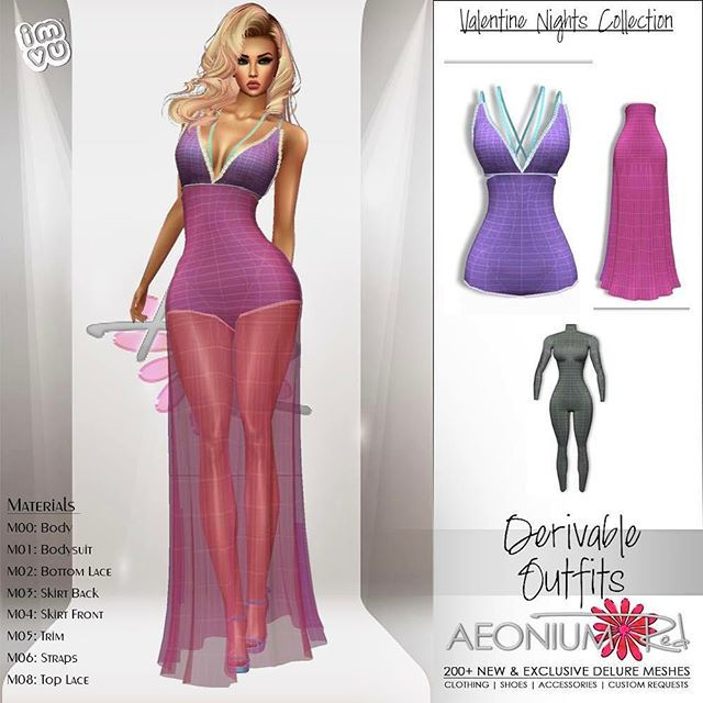 IMVU Derivable Elegant Ball Gowns