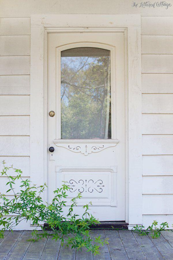 Old White Door Front Porch Farmhouse Pinterest Front Porches