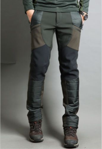 korea_top Mens Hiking Winter Gimo Pants Soft Shell Cargo Fleece Snow  Trousers