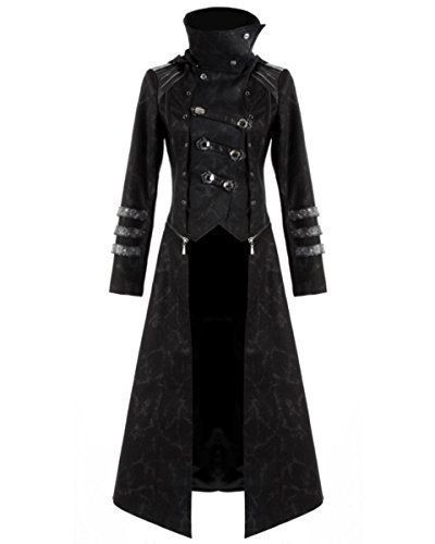 Punk Rave Scorpion Mens Coat Long Jacket Black Gothic Steampunk...