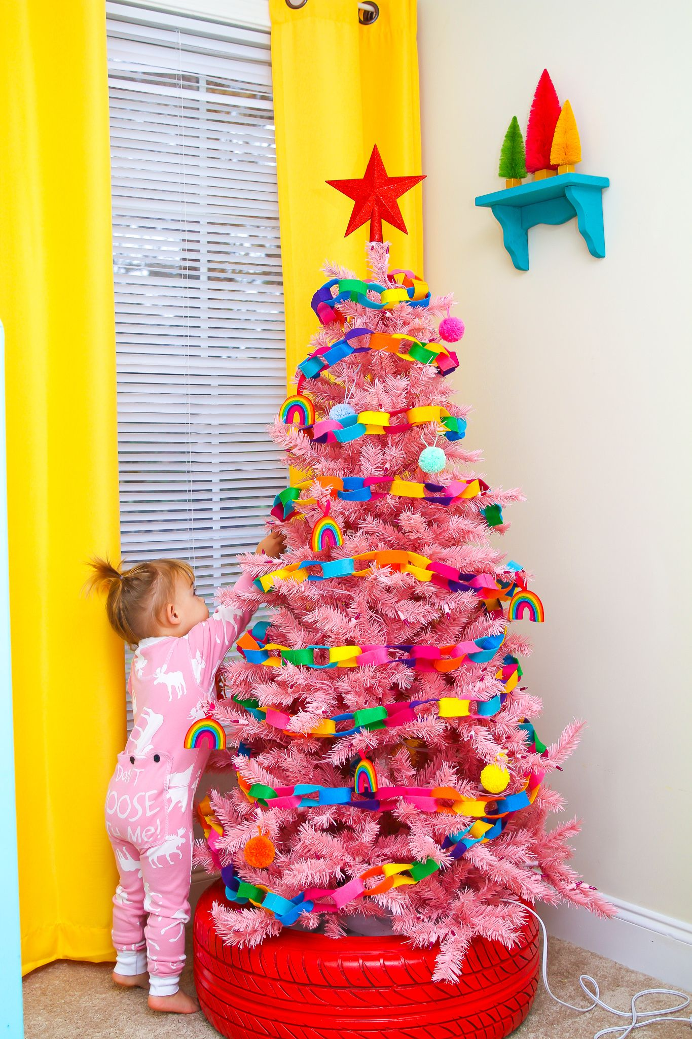 Bright Colorful Christmas Trees For Kids Christmas Trees For Kids Toddler Christmas Tree Colorful Christmas Tree
