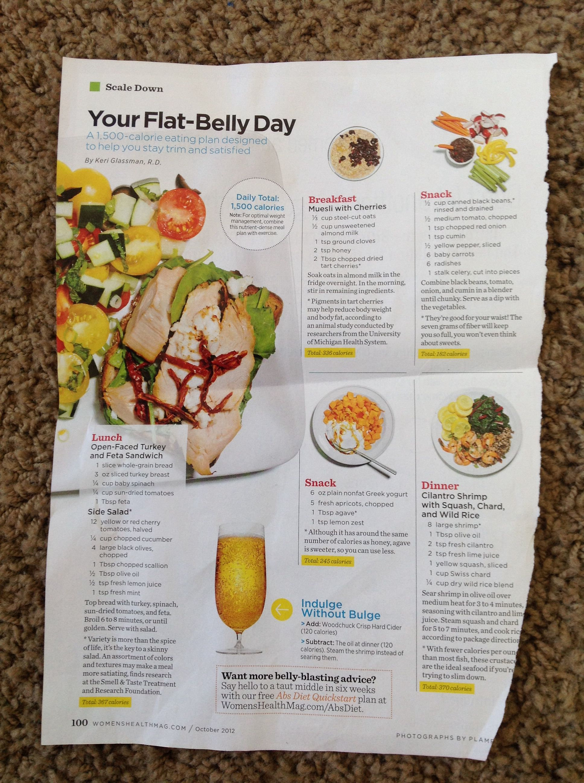 Nutrition Meal Plan Flat Belly Diet Eating Plans Flat Stomach Diet