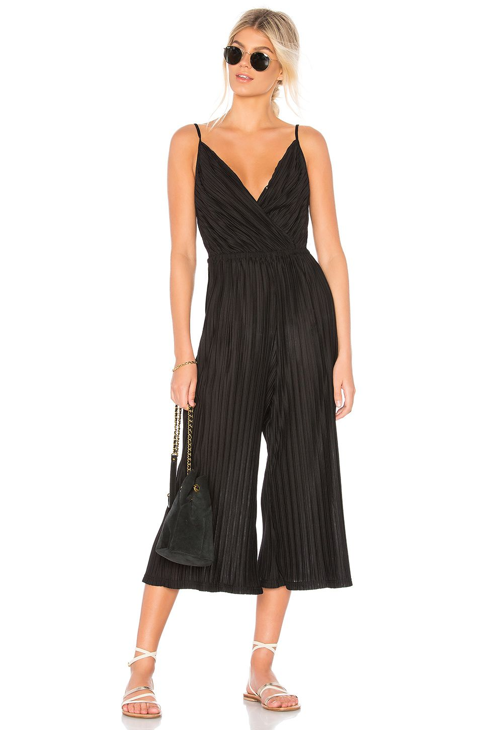 f605115fe448 cupcakes and cashmere Austine Jumpsuit in Black