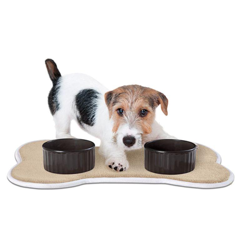 Absorbent Memroy foam Pet Food & Water Bowl Feeding Mat