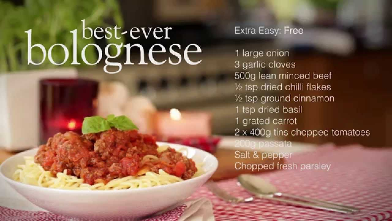 Slimming world spaghetti bolognese recipe slimming world Slimming world recipes for 1 person