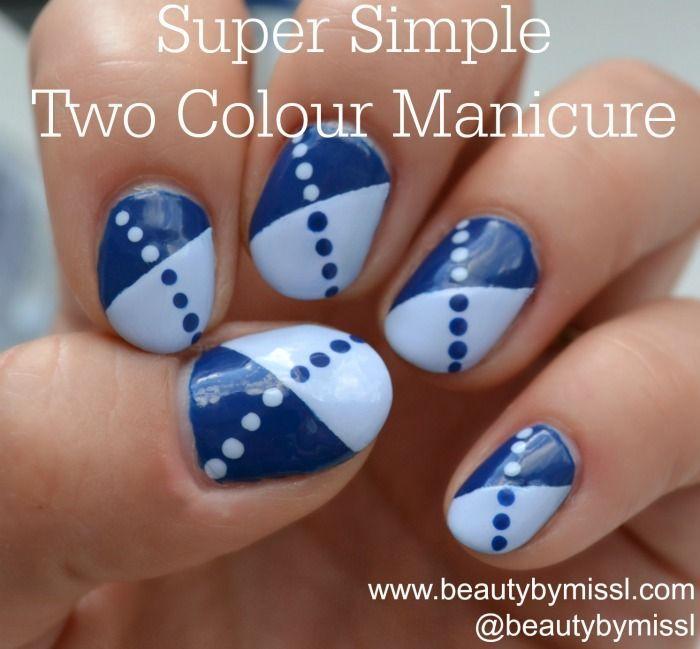 NOTD & tutorial: Super Simple Two Colour Manicure via @beautybymissl  #nailart #nails #nailarttutorial #avon