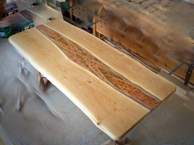 Unique Massive Live Edge Rustic Oak Dining Table Top Pinterest - Unique wood table tops