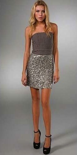 pretty grey sparkle outfit.