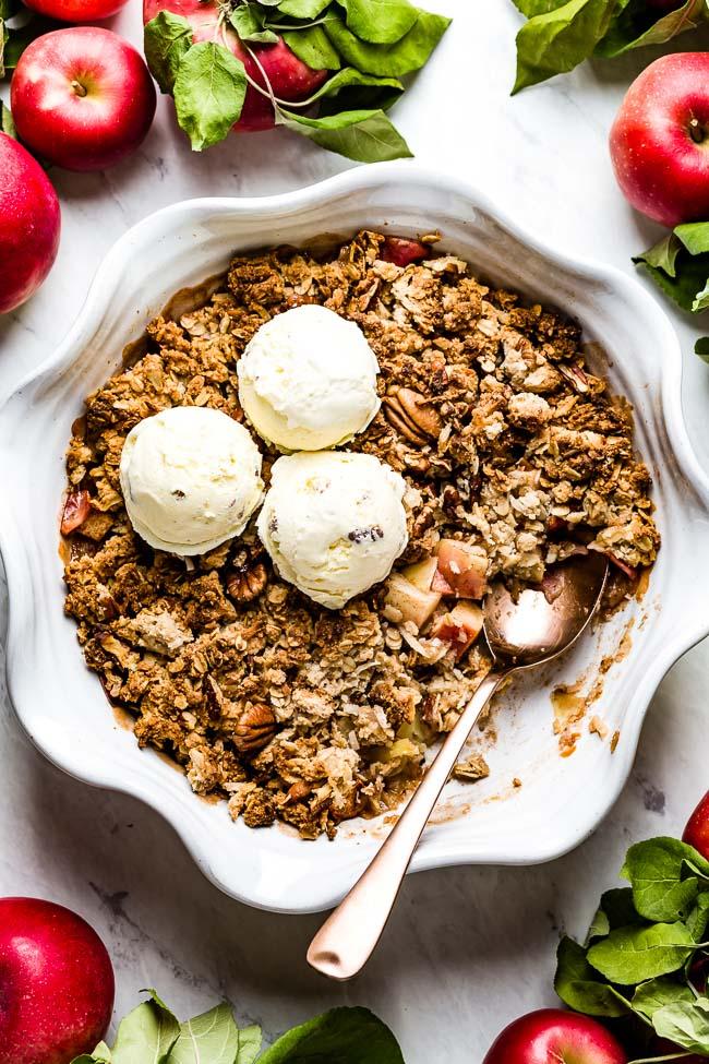 Vegan Apple Crisp Recipe Easy Healthy Foolproof Living Recipe In 2020 Vegan Apple Crisp Recipe Vegan Apple Crisp Easy Apple Crisp Recipe