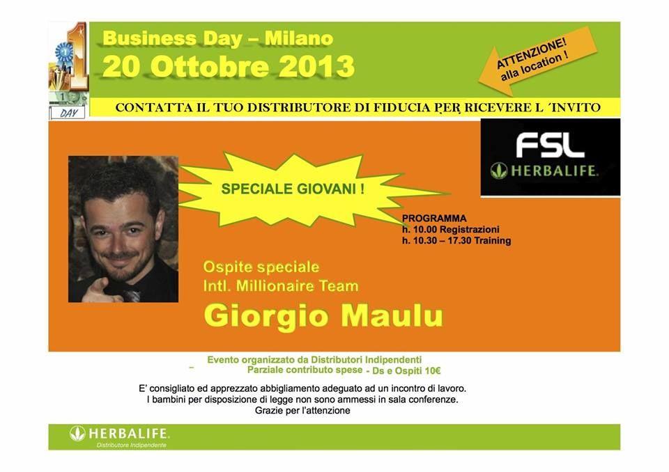 ATTENZIONE! Il NUMERO 1 DELLA SARDEGNA a MILANO!!!! Chi conosci a MILANO? Contattami ORA per l'invito personale! Sabrina  DISTRIBUTRICE INDIPENDENTE HERBALIFE da 1994 Per informazioni su una SANA nutrizione e per i tuoi ordini clicca qui: http://www.verywellness.com/ http://cagliari.goherb.eu/ http://sassari.goherb.eu/ Cell.: 0039- 346 24 52 282