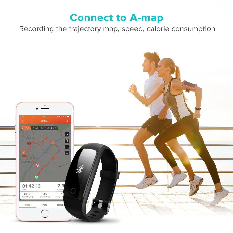 Fitness tracker waterproof activity tracker with heart