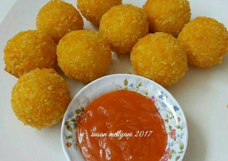 Resep Potato Cheese Balls Oleh Susan Mellyani Resep Bola Keju Kentang Resep